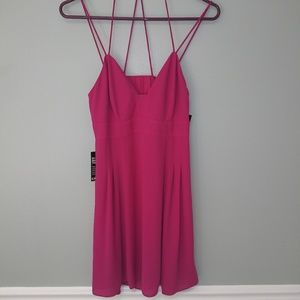 Nwt express hot pink dress